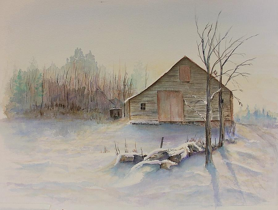 Still River Barn Painting
