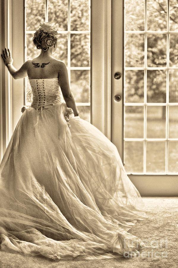 Bride Photograph - Still Waiting by Jill Hyland