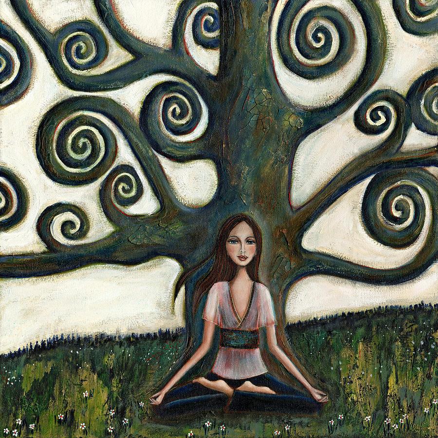 Lady Painting - Stillness by Denise Daffara