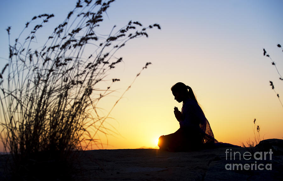 Stillness Of Prayer Photograph