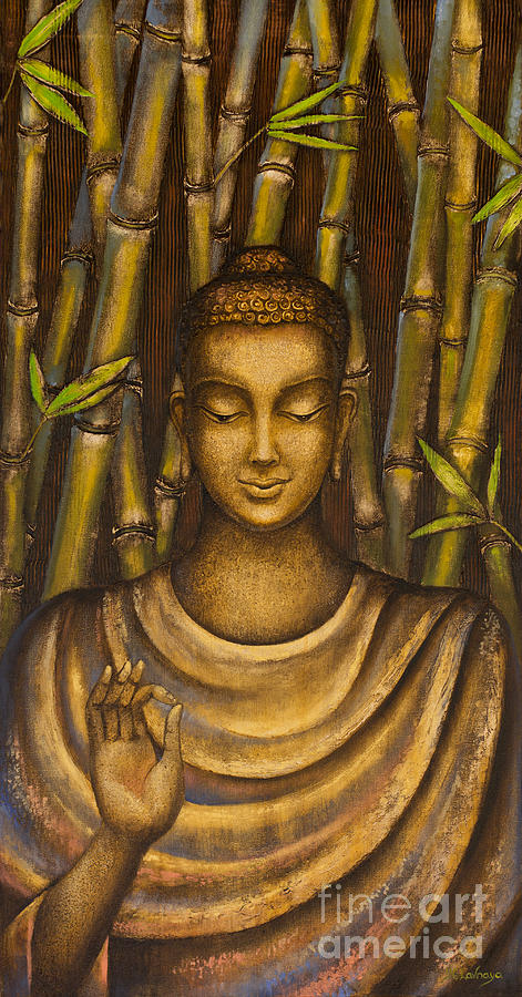 Buddha Painting - Stillness Speaks by Yuliya Glavnaya