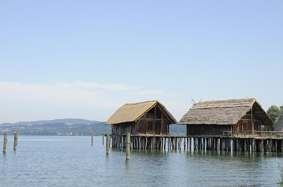 Stilt Houses In The Water Lake Constance Photograph  - Stilt Houses In The Water Lake Constance Fine Art Print