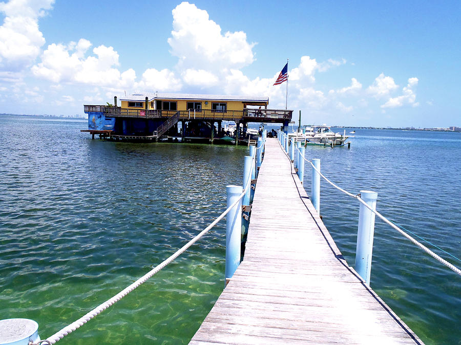 Stiltsville Dock Photograph  - Stiltsville Dock Fine Art Print
