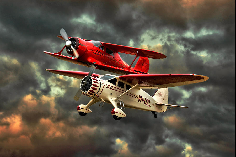 Planes Photograph - Stinson And Beech by Steven Agius