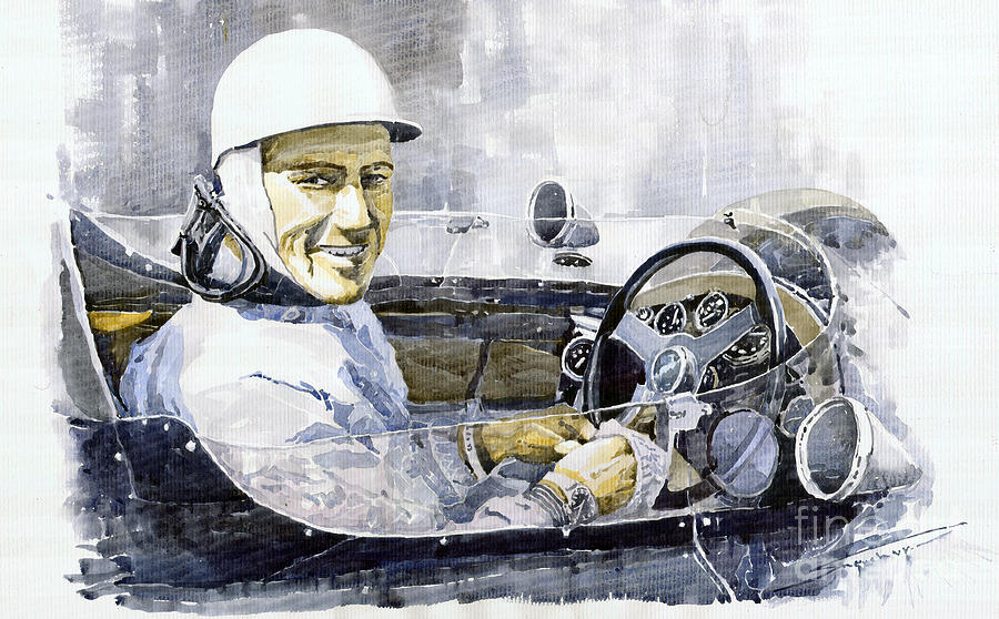 Stirling Moss Painting  - Stirling Moss Fine Art Print