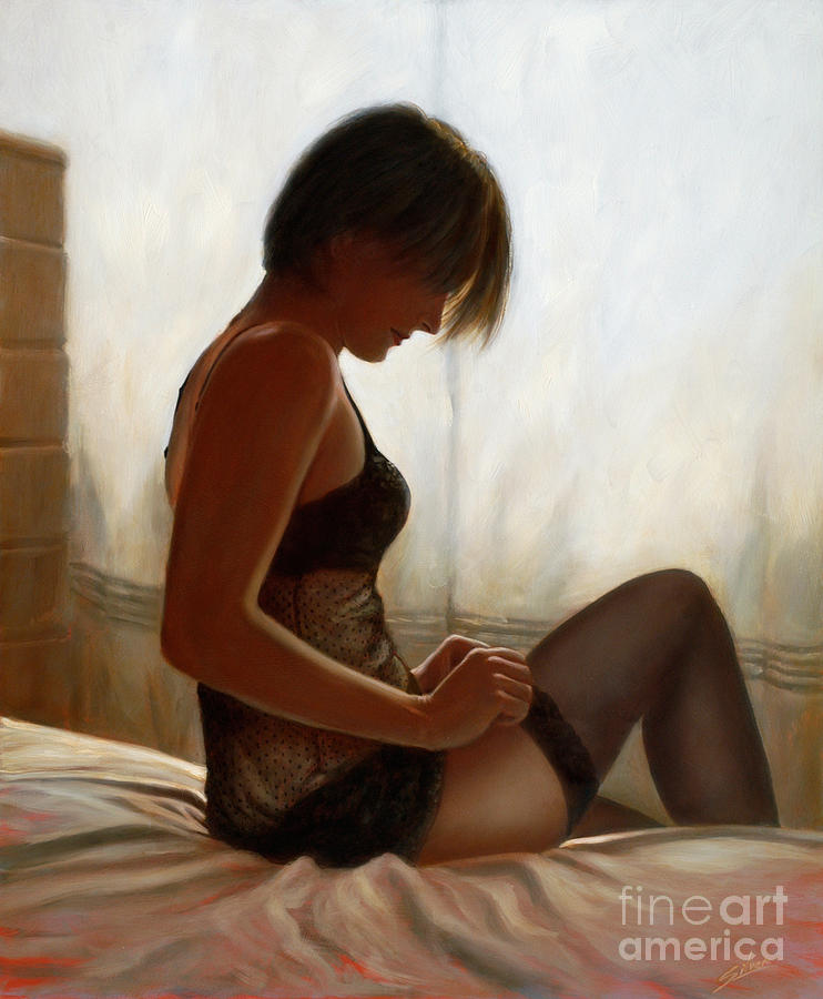 Stockings Painting by John Silver