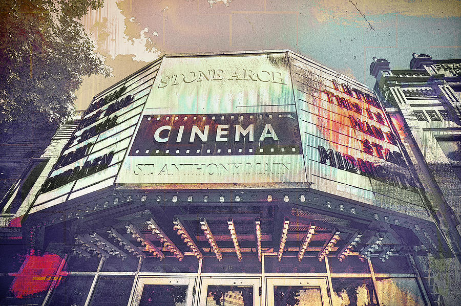 Stone Arch Cinema Digital Art  - Stone Arch Cinema Fine Art Print