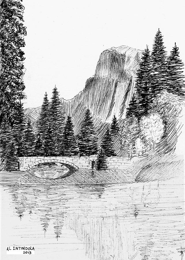 Stone Bridge Drawing