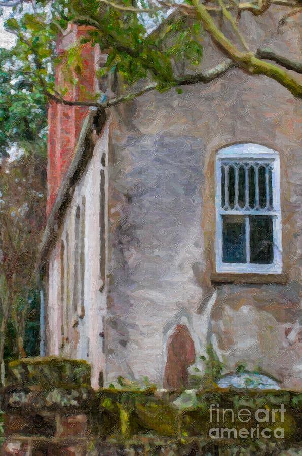 Stone Cottage Digital Art