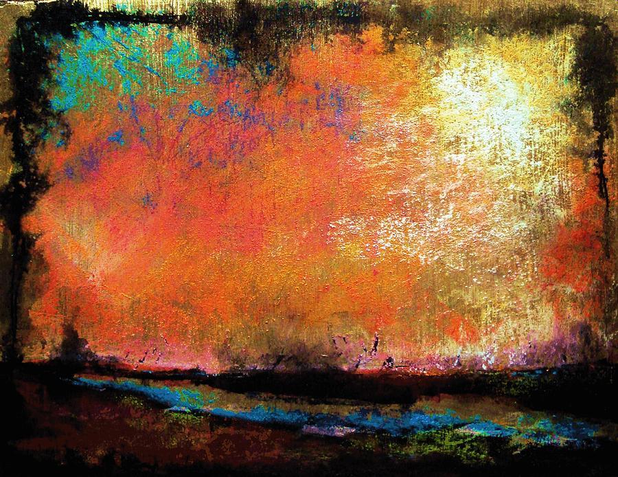 Pastel Painting - Stone Harbor Sky  by Peter R Davidson
