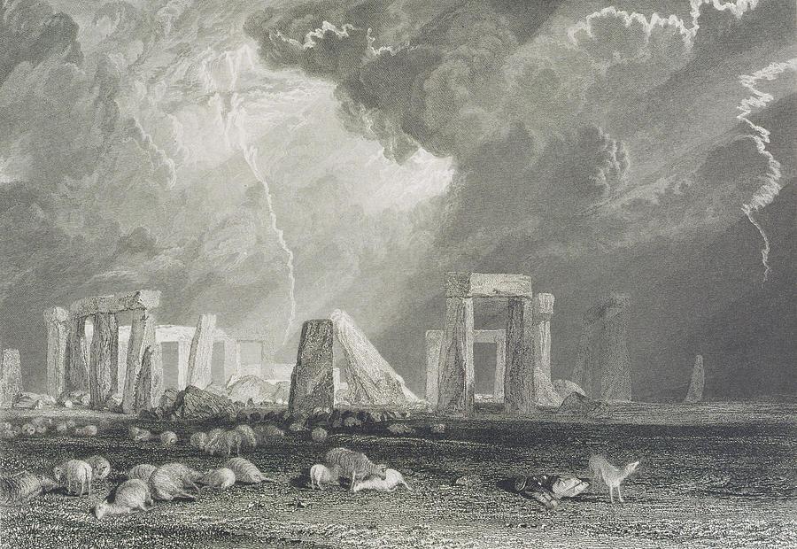 Stone Drawing - Stone Henge by Joseph Mallord William Turner