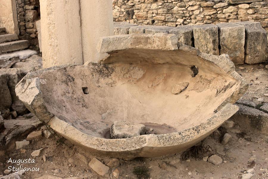 Stone Jar At Temple Of Apollo Photograph