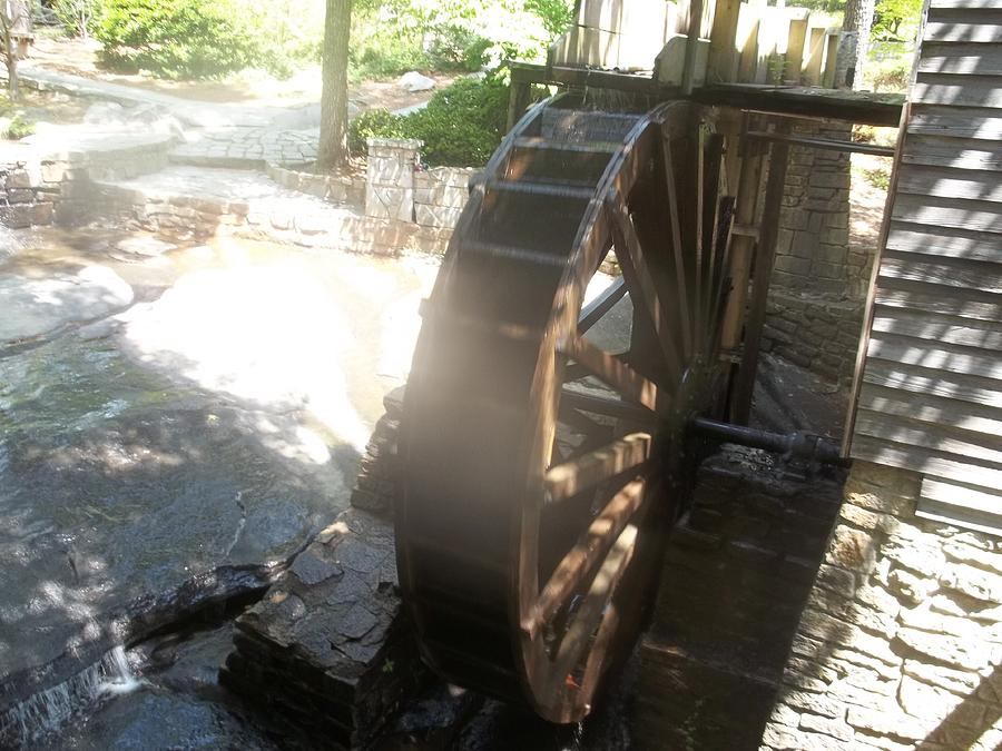 Marble Water Wheels : Stone mountain water wheel photograph by james potts