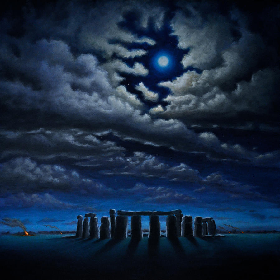 Stonehenge The People S Circle Painting By Ric Nagualero