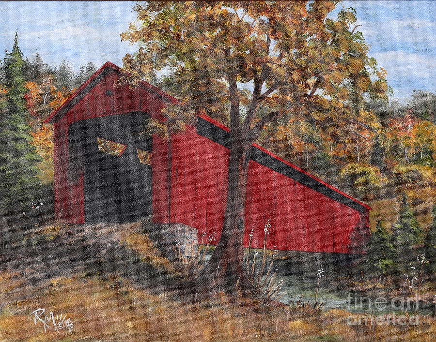 Stonelick Williams Corner Covered Bridge Clermont County Ohio 2 Painting