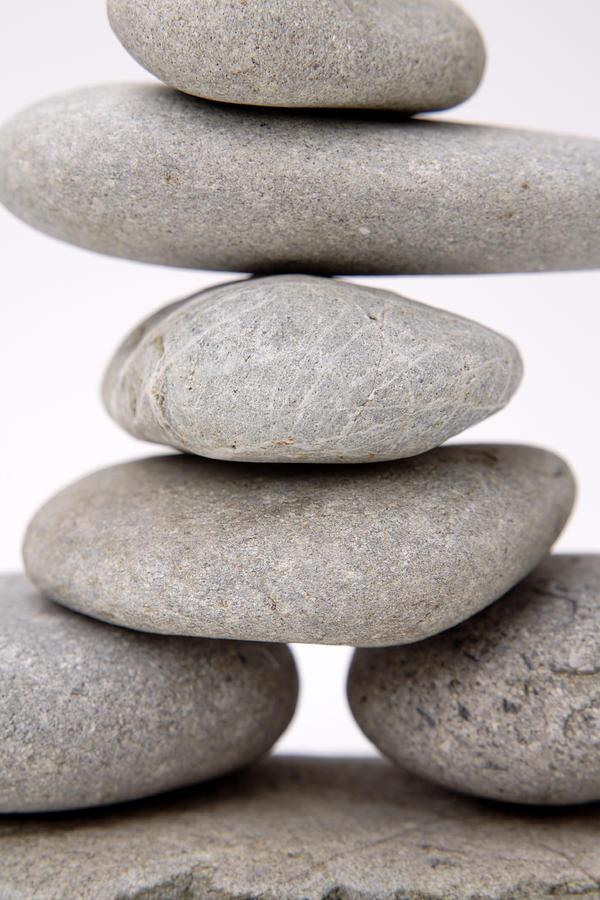 Arrangement Photograph - Stones by Les Cunliffe