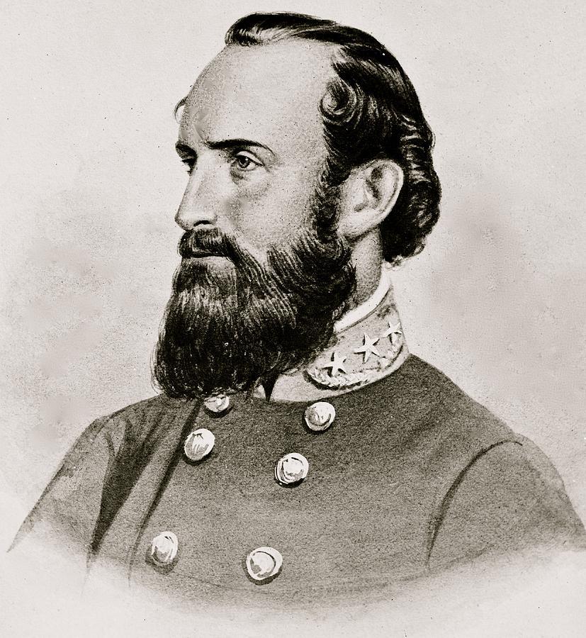 Stonewall Jackson Confederate General Portrait Photograph