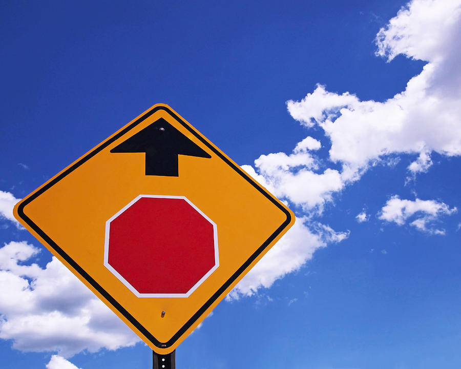 Stop Ahead Photograph
