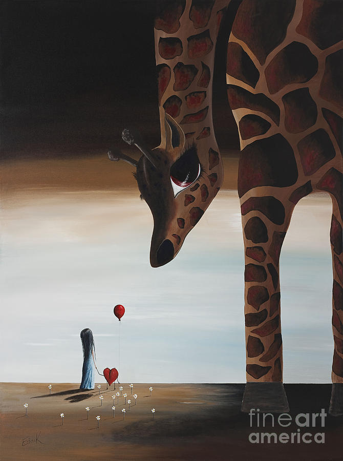 Giraffe Painting - Stop To Love By Shawna Erback by Shawna Erback