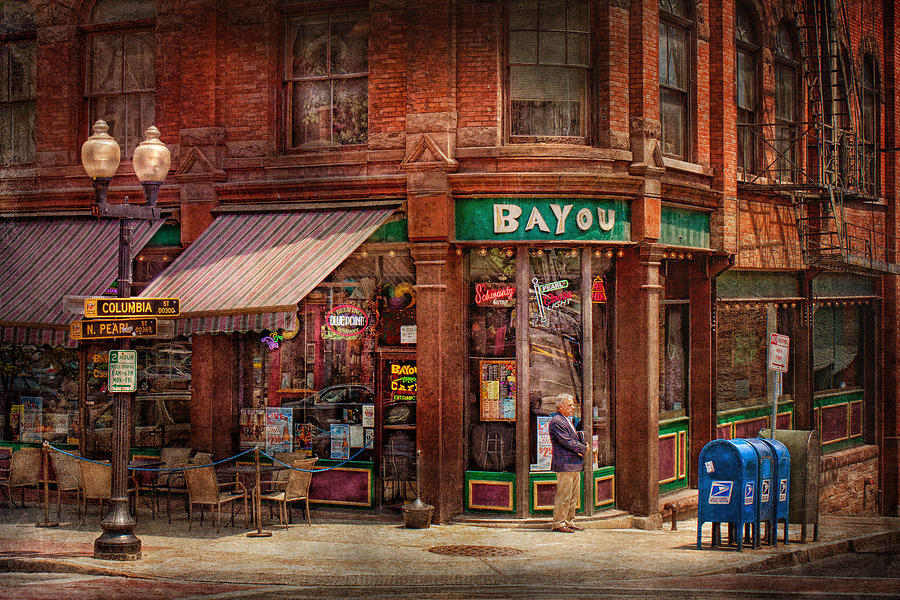 Pearl St Photograph - Store - Albany Ny -  The Bayou by Mike Savad