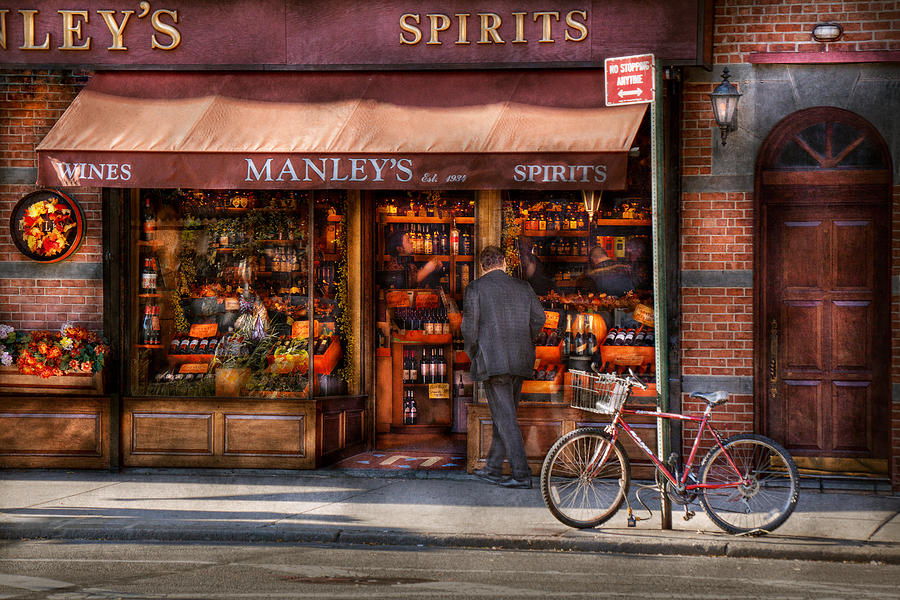 Manley Photograph - Store - Wine - Ny - Chelsea - Wines And Spirits Est 1934  by Mike Savad