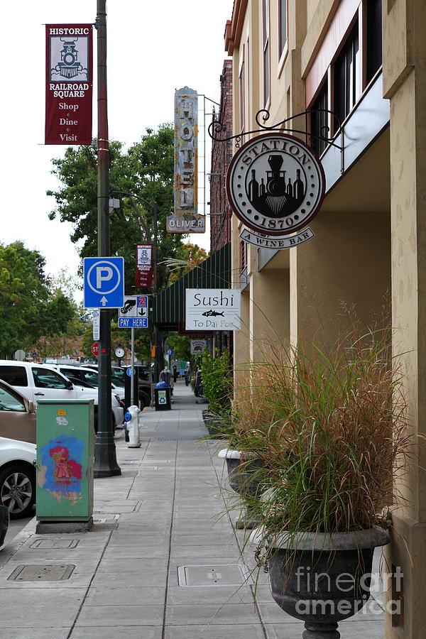 Santa Rosa Photograph - Storefronts In Historic Railroad Square Area Santa Rosa California 5d25806 by Wingsdomain Art and Photography