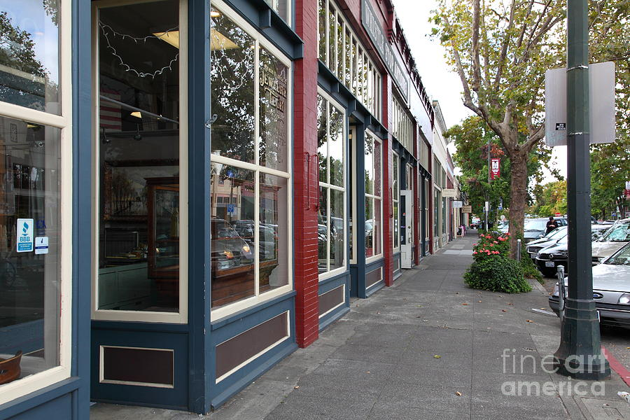 Storefronts In Historic Railroad Square Area Santa Rosa California 5d25856 Photograph  - Storefronts In Historic Railroad Square Area Santa Rosa California 5d25856 Fine Art Print