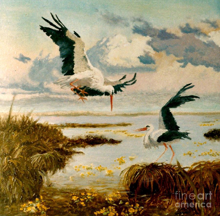 Storks II Painting