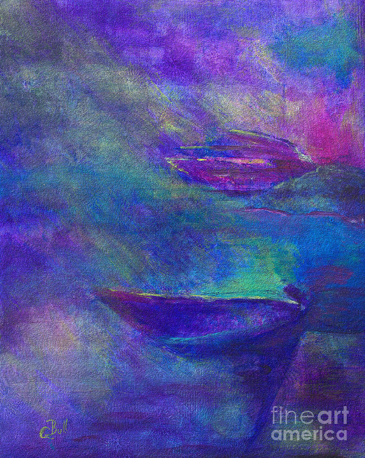 Boat Painting - Storm Boats by Claire Bull