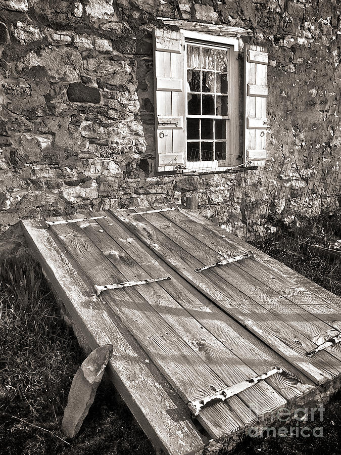 Storm Cellar And Window Photograph  - Storm Cellar And Window Fine Art Print