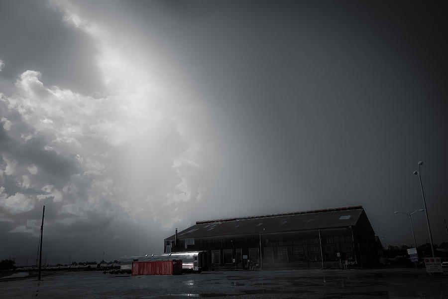 New Orleans Photograph - Storm Clouds Off Airline Highway In New Orleans by Louis Maistros