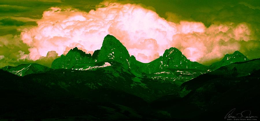 Storm Rising Over The Tetons Digital Art - Storm Coming by Aaron Carper
