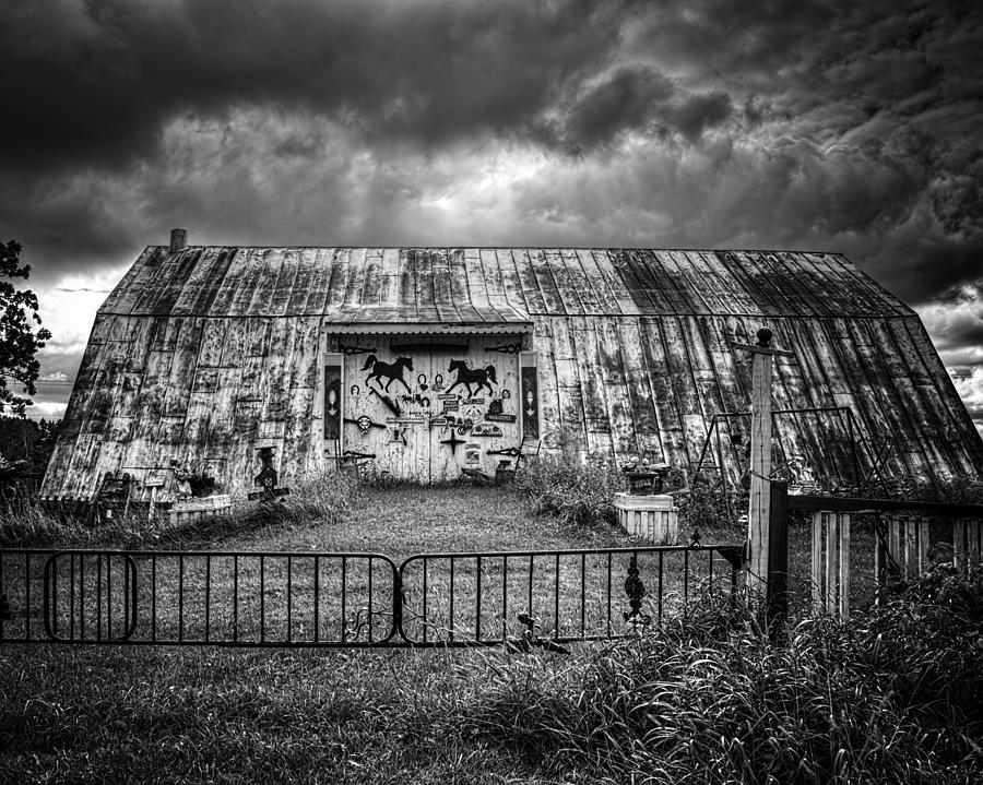 Horse Barn Photograph - Storm Coming In On The Farm by Thomas Young