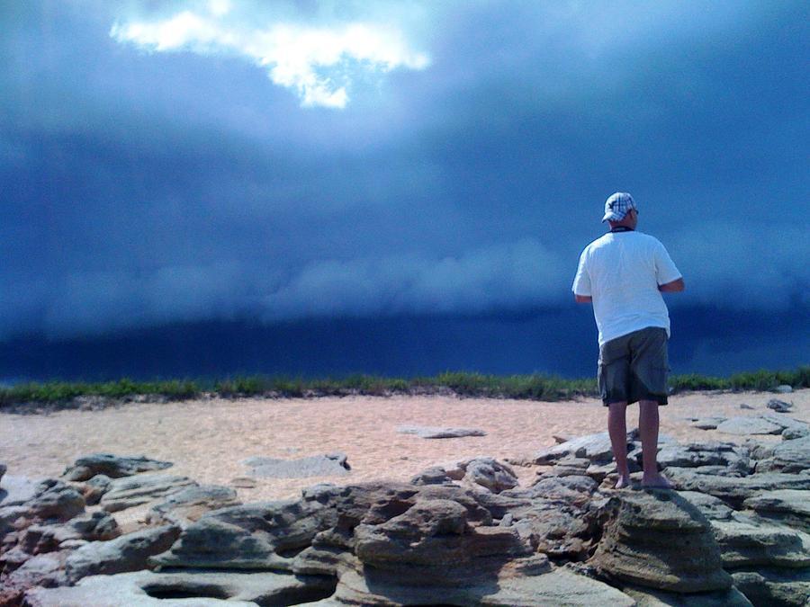 Beach Photograph - Storm Gazer by Julie Wilcox
