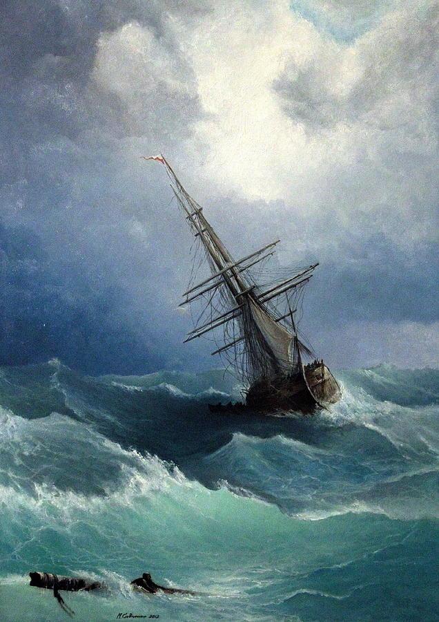 Storm Painting By Mikhail Savchenko