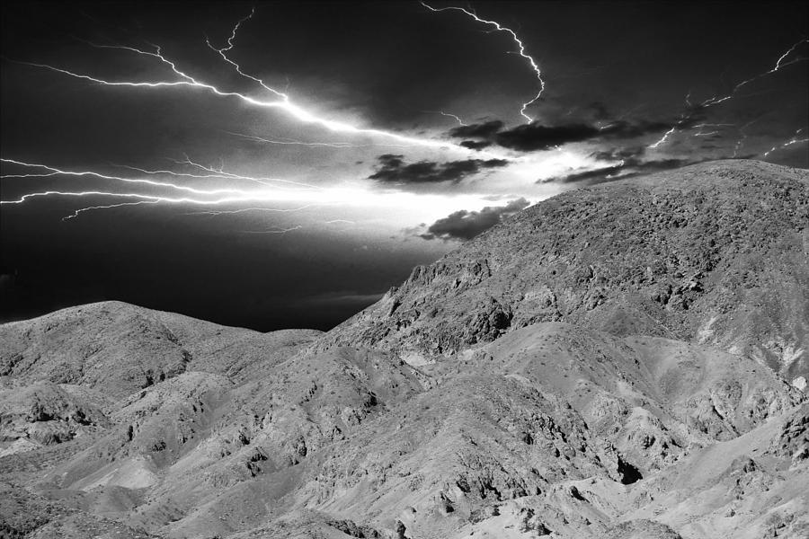Landscape Photograph - Storm On The Mountain by Athala Carole Bruckner