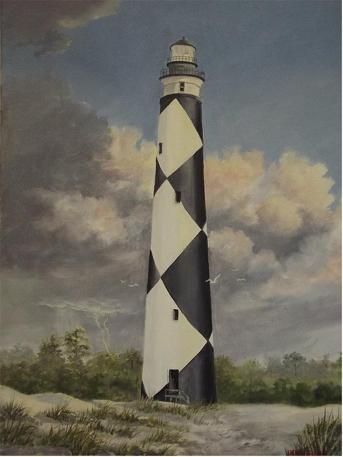 Storm Over Cape Fear Painting