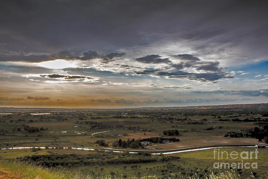 Storm Over Emmett Valley Photograph