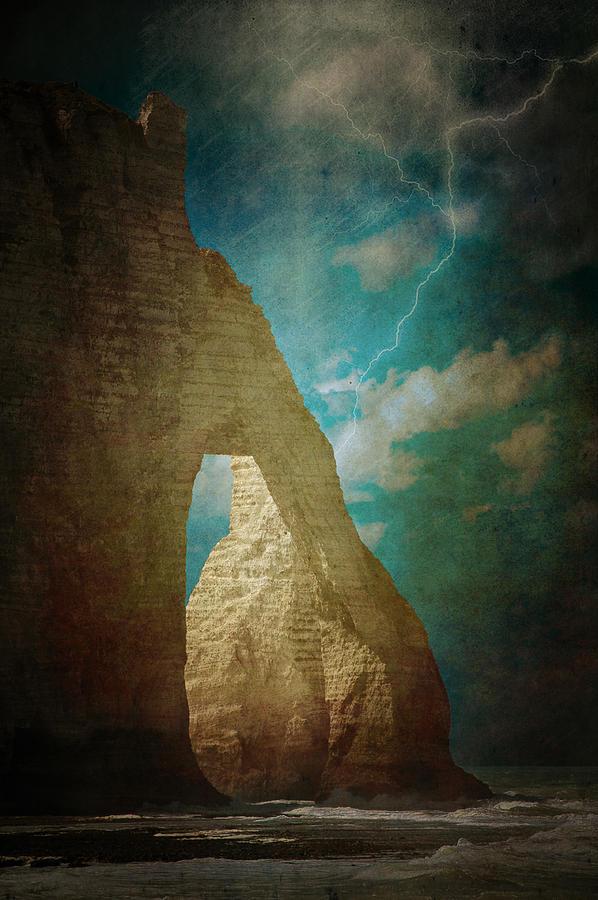 Storm Over Etretat Photograph