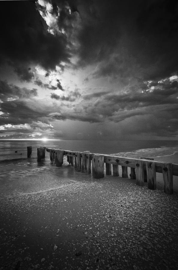 Storm Over Naples Florida Beach Photograph