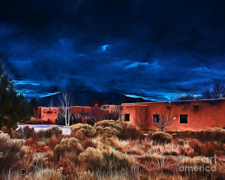 Storm Over Taos Lx - Homage Okeeffe Photograph