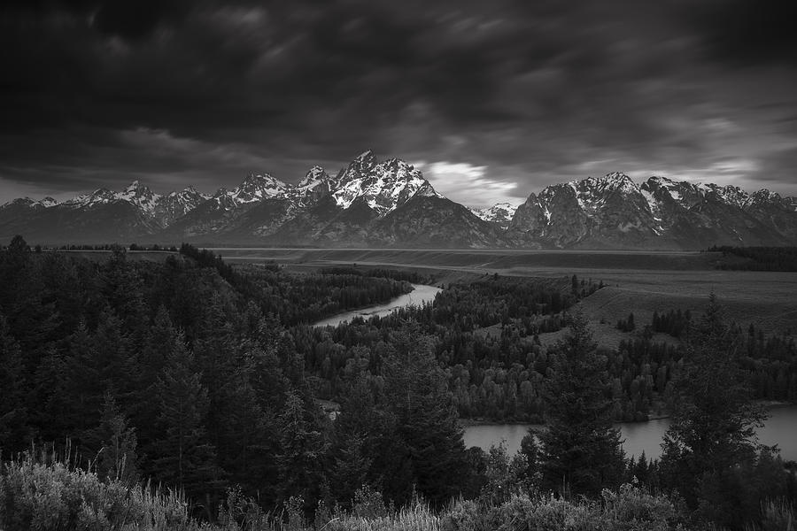 Storm Over The Tetons Photograph