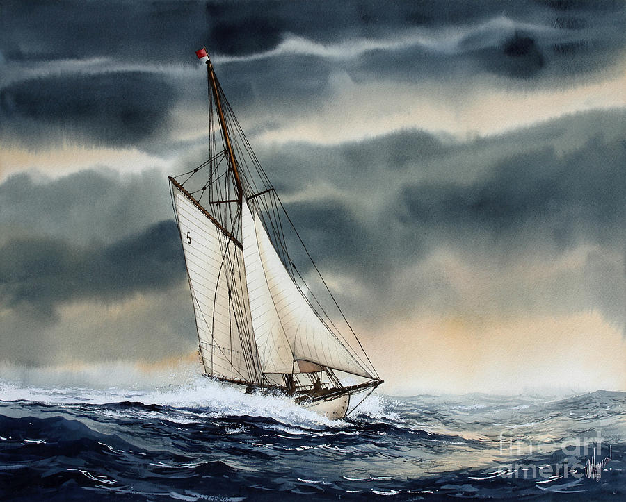 Storm Sailing Painting