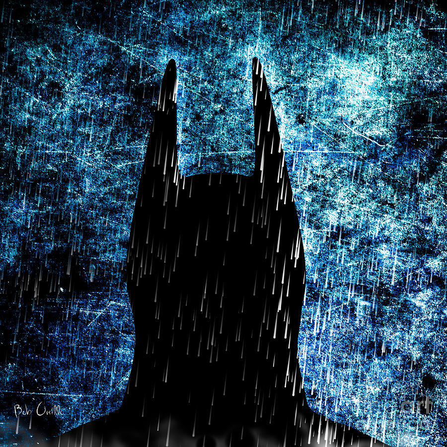 Stormy Knight Dark Knight Painting  - Stormy Knight Dark Knight Fine Art Print
