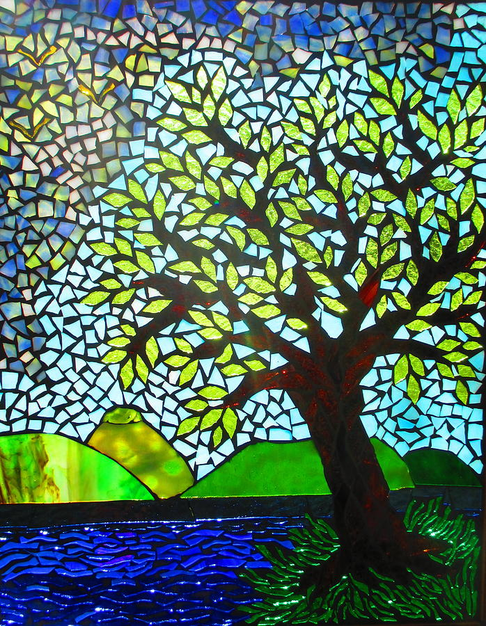 Stormy Glass Art By Lisa Anderson