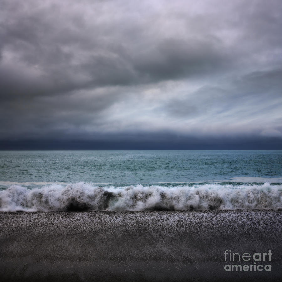 Stormy Sea And Sky Square Photograph  - Stormy Sea And Sky Square Fine Art Print