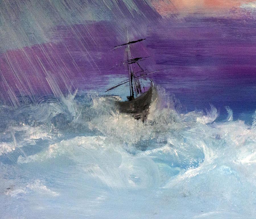 Stormy Seas Painting