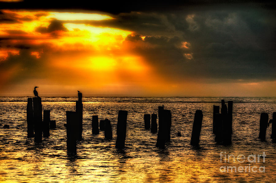 Stormy Skies At Sunrise Outer Banks Photograph  - Stormy Skies At Sunrise Outer Banks Fine Art Print