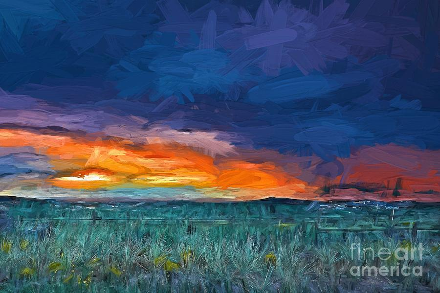Stormy Sunset Lv Painting