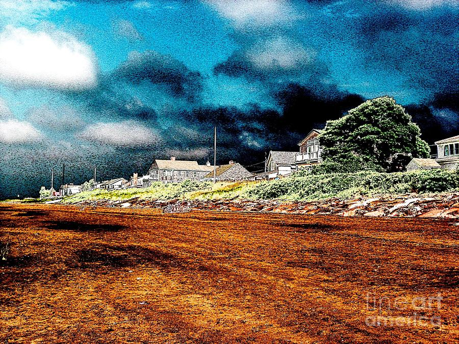 Stormy Weather At A Cape Cod Beach Photograph  - Stormy Weather At A Cape Cod Beach Fine Art Print